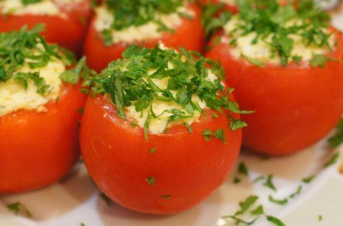 помидоры с кремом