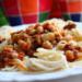спагетти с фасолью