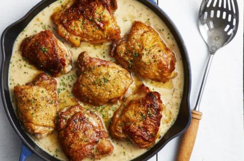 цыпленок в вине