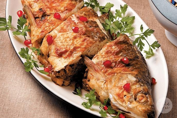 рыба с орехами