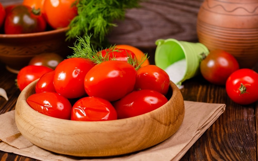 рецепт соленых помидор