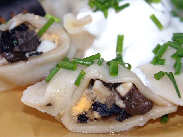 пельмени с грибами рецепт